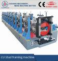 china fornecedor de placas de gesso light gauge joist stud e faixa de máquina de rolo de metal drywall partição cu frame máquina de forma