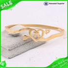 2014 hot sale pulseras de moda de oro 18k joyas de acero