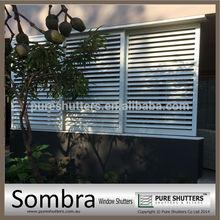 Aluminum sliding plantation interior security window shutters