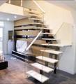 Design escadaria de mármore/ferro escada reta