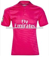 Wholesale Real Madrid shirt 2014-2015 new season away red Real Madrid soccer wear