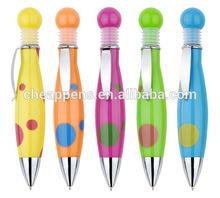 fat plastic ball pen