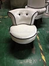 White Button Tufted Chair