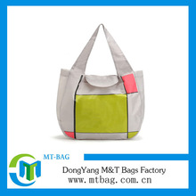 Custom printed promotional reusable foldable shopping bag