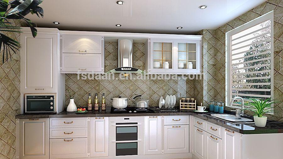 De moderne nieuwe klassieke meubels keuken pvc art deco stijl deur - Moderne keuken deco keuken ...
