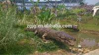 Customized high quality animatronic remote control crocodile