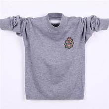 Boys sweatshirt 2014 wool knitwear design for boy plain knitted kids pullover sweater sweater models for children