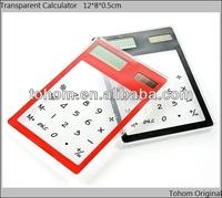 60g mini colorful solar transparent calculator