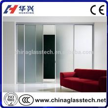 CE certificate residental aluminum sliding tempered glass patio doors