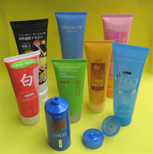 100ml transparent labeling cosmetic tubes used for body lotion