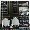 TP-687 Custom Coffee Cup Retro Advertising Poster Decorative Tin Plates