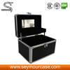 Professional Soft Rolling Makeup Case Drawers Professional Makeup Case Aluminum Cosmetic Train Makeup Beauty Case Box