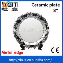 Lovely design porcelain dinner dish,heat printing plate