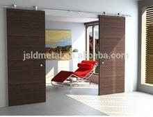 """142"""" Double wood Manual Operation Synchronous Sliding Door,home interior door,office door"""
