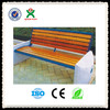 2015 new design stone wood bench for park garden bench made in china QX-144I