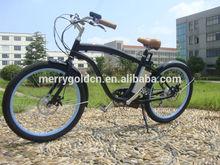 frame alloy 26inch wheel beach cruiser high quality man electric bicycle