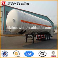 trailer manufacturer - Liquid asphalt tank trailer with heat preservation system & parabolic leaf spring (volume optional)