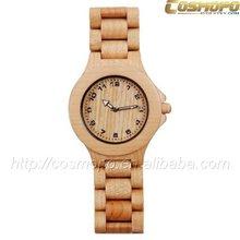 2014 wholesale fashion bamboo wrist watch for women