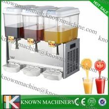 Promotion activity hot sale 3 bowls electric commercial plastic beverage dispenser,refrigerated beverage dispenser