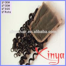 Wholesale Cheap Human Hair Three Part lace closure bleached knots