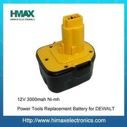 china manufacturer dewalt power tool battery nimh 12 volt battery