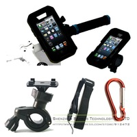 Bicycle Bike Phone Mount Holder with waterproof case Brackets Cradle for iphone4 4S 5 5s