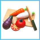 Hot Sale DIY Wooden Magnet Child Toy,Pretend Cut Fruit Vegetable Education Kid Toy