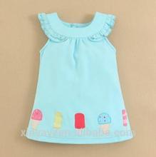 حار بيع طفل اللباس تصاميم فستان 2014/ 1 سنة حزب اللباس الطفل ملابس الاطفال استيراد من الصين