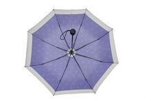Promotion Foldable Umbrella 3 Foldaway Economy Strong Windproof Anchor Imprint Umbrella