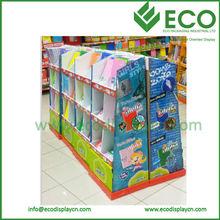 Retail Paper Display Rack Manufacturer Book Counter Cardboard Display Stands