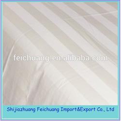 hotel textile fabric, sateen stripe bedding fabric