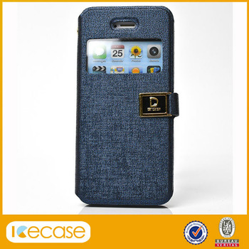 D word magnetic buckle PU leather case for iPhone 4S 5S