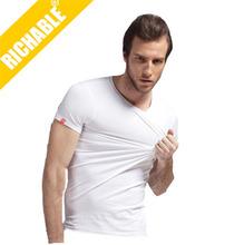 95% cotton , 5% spandex fashion mens plain t-shirt