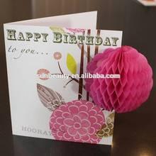 Tissue Paper Honeycomb, Handmade Craft 3D Greeting Card