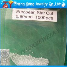 Round european star cut cubic zirconia gemstone/Hearts and arrows white cubic zirconia