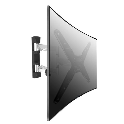 Alluminio full motion tv curvo montaggio a parete staffe - Montaggio tv a parete ...