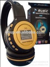 N65 wireless fishion earmuff headphone/headsets