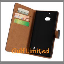 Genuine leather flip wallet case for nokia lumia 930