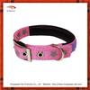 Co Pink Reflective Nylon Padded Dog Collar