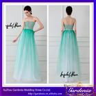 2014 New Arrival Beautiful Light Green Sheath Strapless Zipper Back Beaded Bodice Floor Length Evening Dress Rent (AB0687)