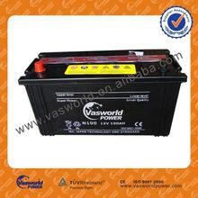 korea design battery car 12v 100ah battery for cat starting