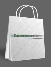 square bottom white craft paper shopping bags