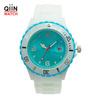 QD0138 White Silicon Strap blue dial wrist watch