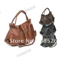 wholesale ladies cheap Korean Style Lady Hobo PU Leather Handbag Shoulder Bag 3877
