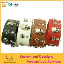 Hot selling handmade leather bracelet with rivet