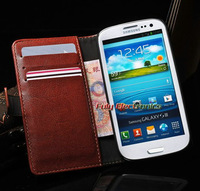 High Quality Retro Wallet pouch Leather Card Case For Samsung Galaxy S3,Flip cover for i9300