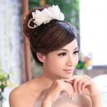 2014 new arrival beaded wedding braid hairpiece