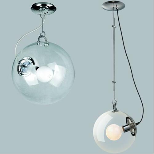 sfera di vetro trasparente lampada a sospensione da soffitto-Lampadari ...