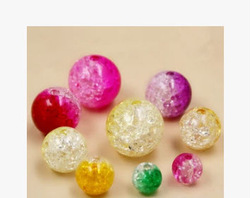 Wholesale colorful crack loose bead DIY jewelry accessories
