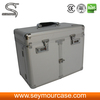 Transent Pvc Cosmetic Case Aluminium Lighted Makeup Train Case Cosmetic Cooler Box